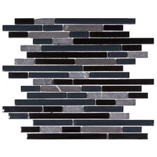 Sierra Random Sized Glass and Natural Stone Mosaic Tile in Bizancio