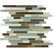 Sierra Random Sized Glass and Natural Stone Mosaic Tile in Tundra