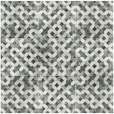 """Caprichos 17.75"""" x 17.75"""" Ceramic Metall Tile in Marmol Gris"""