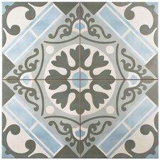 """Evaso 17.75"""" x 17.75"""" Ceramic Field Tile in Azul"""