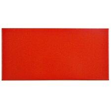 "Proyecto 3.88"" x 7.75"" Ceramic Floor and Wall Tile in Matte vermelho"