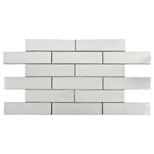 "Anchorage 3"" x 12"" Ceramic Wall Tile in Craquelle White"
