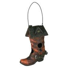 Cowboy Boot Hanging Birdhouse