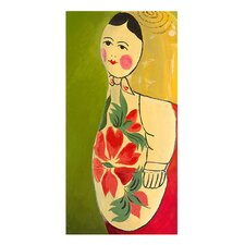 Matryoshka Three-Quarter Face Giclee Painting Print on Wrapped Canvas