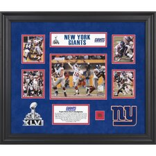 NFL New York Giants Super Bowl XLVI Champions 5-Photo Collage Framed Memorabilia