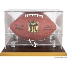 NFL Wood Base Football Logo Display Case
