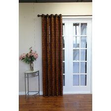 Bamboo Grommet Top Single Curtain Panel