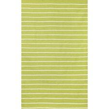 Sorrento Pinstripe Lime Green/Ivory Indoor/Outdoor Area Rug