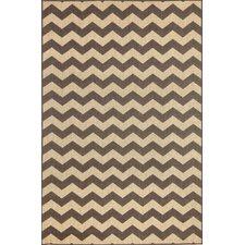 Monterey Charcoal Zig Zag Indoor/Outdoor Rug