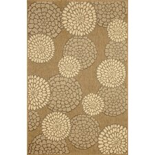 Monterey Neutral Mums Indoor/Outdoor Rug