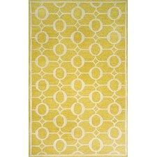 Spello Arabesque Yellow Outdoor Area Rug