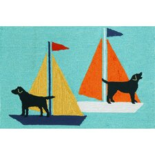 Frontporch Sailing Dog Area Rug