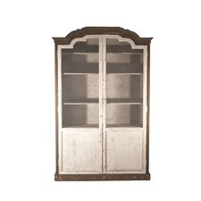 Tonny Cabinet in Distressed Brown and Off-White