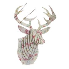 Bucky Deer Bust Dusty Rose Wall Décor