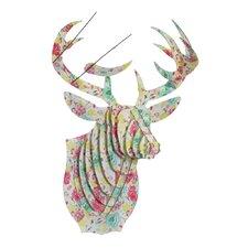 Bucky Deer Bust Spring Fling Wall Décor