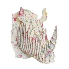 Robbie Rhino Bust Dusty Rose Wall Décor