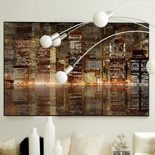 Architecture Night Vision Framed Graphic Art