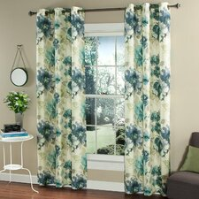 Watermark Floral Curtain Panel (Set of 2)