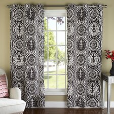 York Luxury Window Grommet Window Curtain Panel (Set of 2)