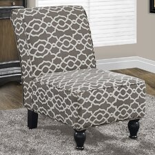 Bell Fabric Traditional Slipper Chair