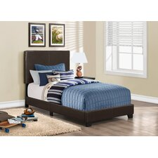 Faux Leather Twin Size Bed
