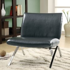 Leather Parsons Lounge Chair