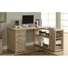 Corner L-Shaped Writing Desk with 3 Storage Drawers