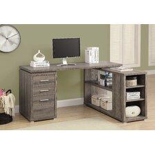 Corner L-Shaped 3 Drawer Writing Desk