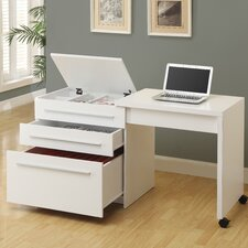 Computer Desk with Medium Storage Drawers