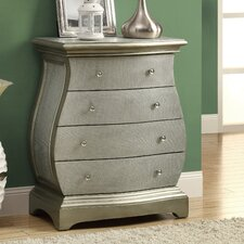 Bombay Hour Glass Shaped 4 Drawer Chest