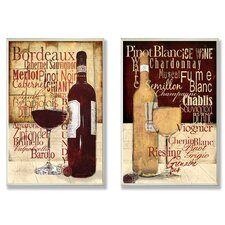 Wine Typography Kitchen 2 Piece Wall Plaque Set