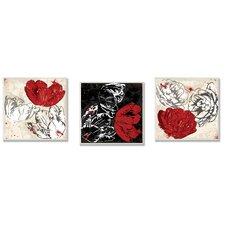Floral 3 Piece Wall Plaque Set