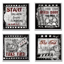 Cinematic Expressions Square Wall Plaque (Set of 4)