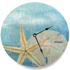 "12"" Beach Starfish Light Typography Wall Clock"