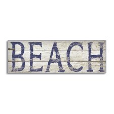 Distressed Beach Sign Wall Plaque