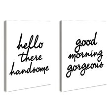 LulusimonSTUDIO Hello There Good Morning 2 Piece Wall Art Set