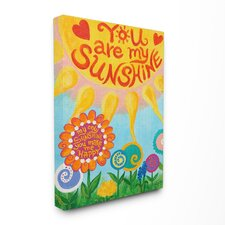 The Kids Room You Are My Sunshine Canvas Art