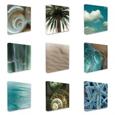 Island Beach 9 Piece Photographic Print on Wrapped Canvas Set