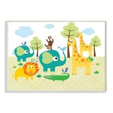 Jungle Animal Graphic Art Plaque