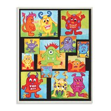 Silly Monsters Graphic Art Plaque