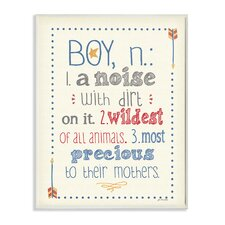 Definition of Boy Wall Plaque