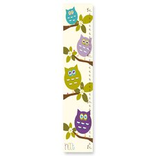 Cute Owls Whimsical Growth Chart