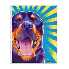 Rottweiler on Bright Colors Dog by DawgArt Graphic Art on Plaque