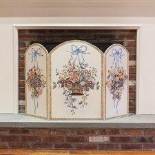 Hanging Basket 3 Panel Fireplace Screen