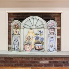 Flower Pots and Vases 3 Panel Fireplace Screen