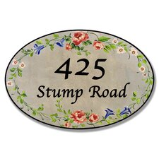 Personalized Oval Floral Wall Plaque