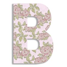 Oversized Roses Hanging Initial