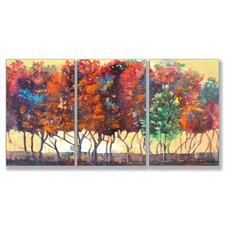 Enchanted Forest Triptych 3 Piece Wall Plaque Set