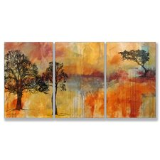 On the Edge Triptych 3 Piece Wall Plaque Set