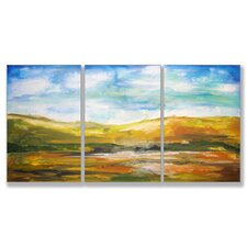 Painted Horizons Triptych 3 Piece Wall Plaque Set